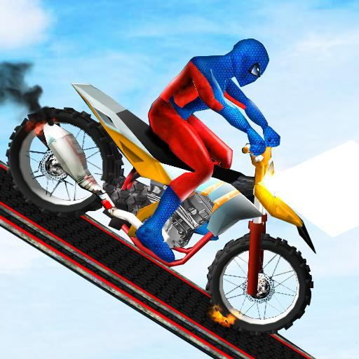 Spider Hero Bike Racing