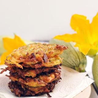 Cheddar Bacon Zucchini Fritters.