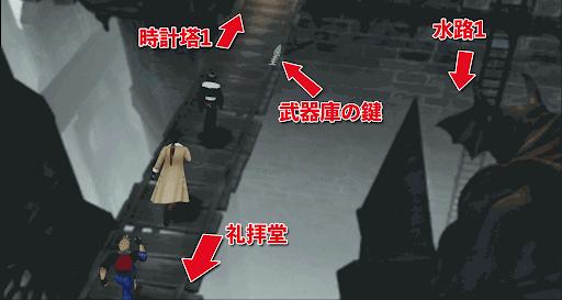 FF8_時計塔入り口_マップ