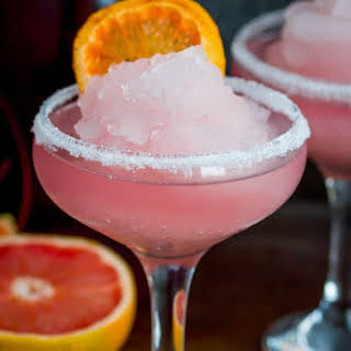 Frozen Pink Grapefruit Prosecco Cocktail.