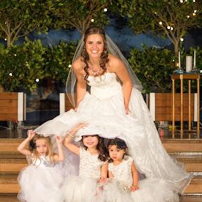 Peek a Boo by Justin Quinn - Wedding Bride ( oregon, wedding, ido, marriage, bride,  )