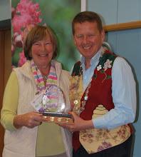 Photo: Anne Wilson receiving her trophy