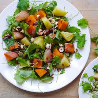 Mixed Potato Salad with Roasted Hazelnuts
