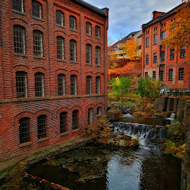 In Moss, Norway by Monita Alstadsæter - Buildings & Architecture Office Buildings & Hotels ( bricks, waterfall, old buildings )