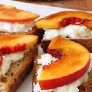Peach Brulee Burrata Bruschetta Recipe