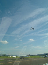 Photo: Another small plane just started from runway 26 in Birrfeld http://www.swiss-flight.net