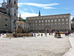 Photo: Residenzplaz: Bernini's horse fountain made me think of Rome. The old Residenz with the Nazi flag on it in the SOM is the former Imperial palace.