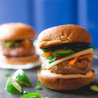 Bahn Mi Burgers with Sriracha Lime Mayo