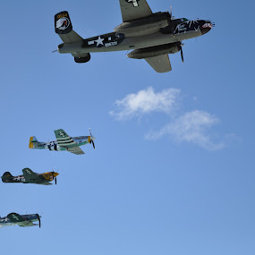 The Fighters by Dave Reece - Artistic Objects Other Objects ( st maarten, philipsburg, vintage, airplane )