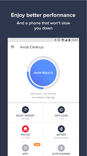 Avast Cleanup & Boost Screenshot