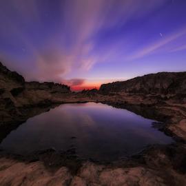 Edge of The Earth by Nyoman Sundra - Landscapes Sunsets & Sunrises ( japan, sunset, kanagawa, jogashima, landscape )