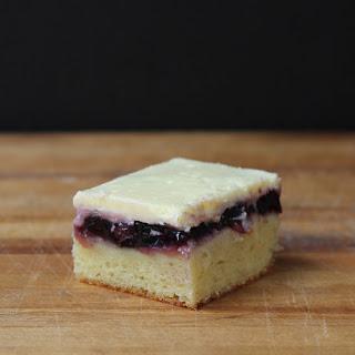 Blueberry Cake-Pie-Cheesecake Bars