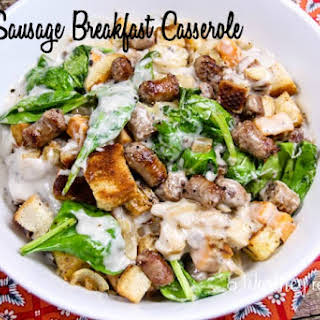 Sausage Breakfast Casserole Without Eggs Recipes.