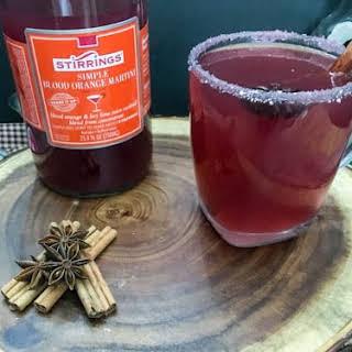 Blood Orange Toddy Cocktail.