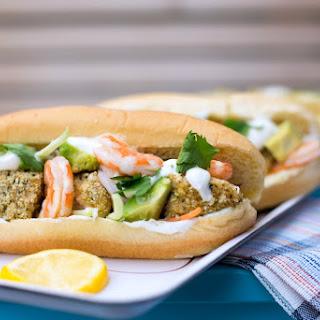 Tilapia and Shrimp Sandwich.
