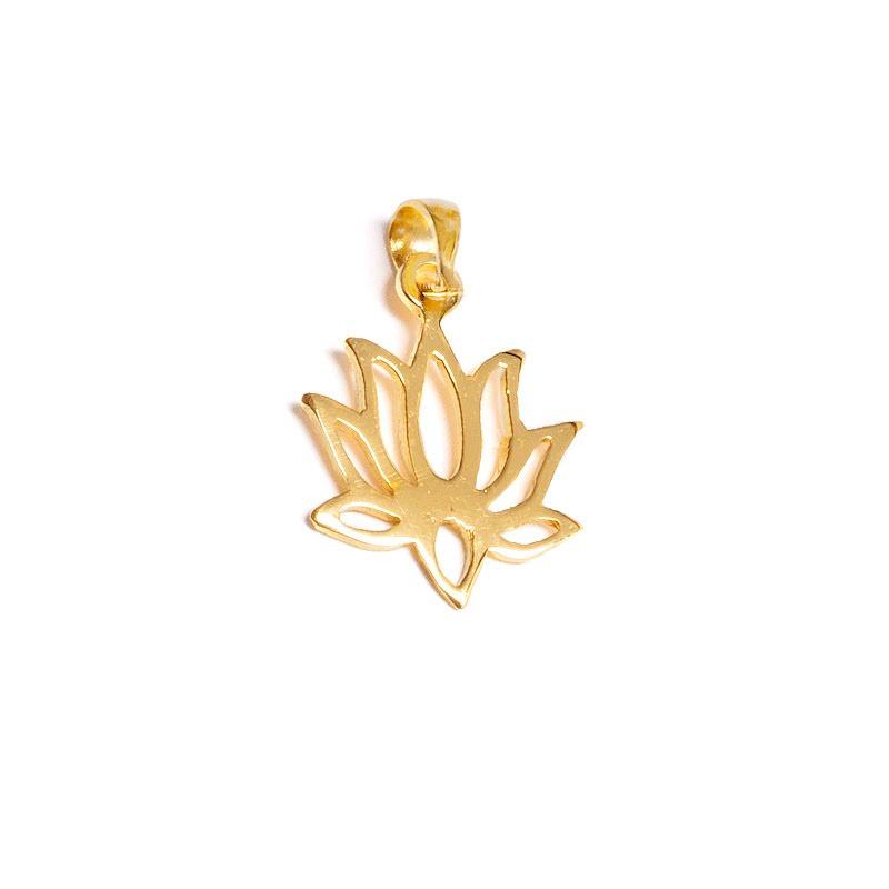 Lotus, hänge guldpläterad mässing