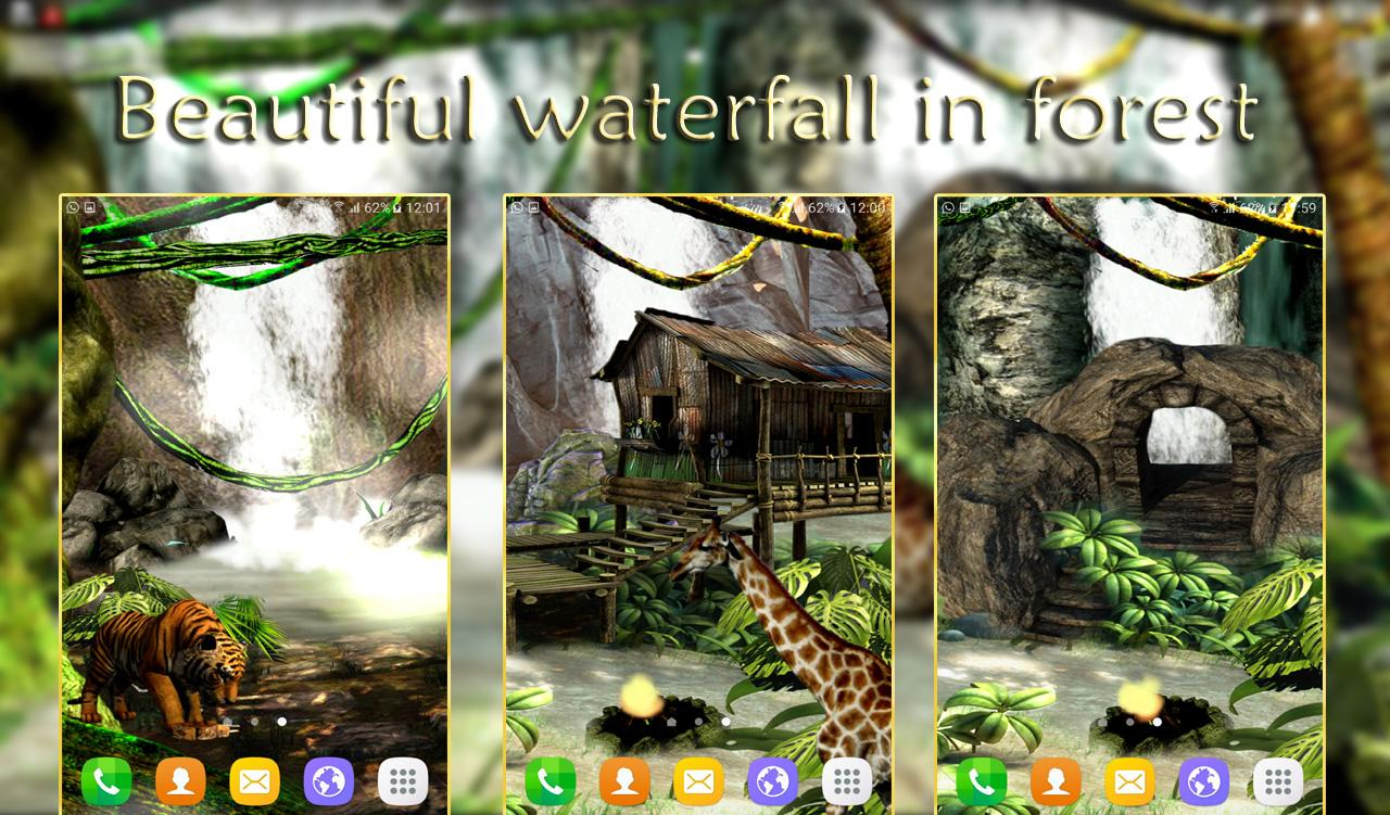 Waterfall Live Wallpaper 3D- screenshot
