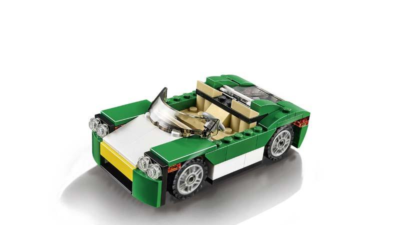 Contenido de Lego® 31056 Descapotable Verde