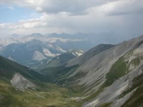Photo: На перевале Моренном. Вид на долину Левого Ара-Ошея (фото из похода 2012 года, ТК МИСиС, рук. Д.В.Пыркова)