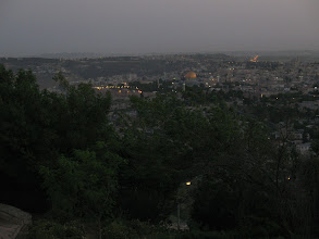 Photo: Arriving in Jerusalem: View from Mount Scopus to the Old City.