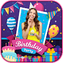 Birthday Photo Frame- Birthday Cake Song With Name icon