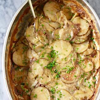 Potato Dauphinoise with Leeks