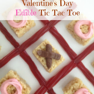 Valentine's Day Edible Tic Tac Toe Game.