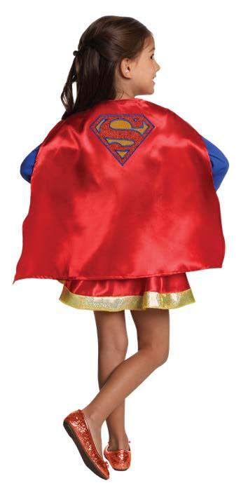 Supergirl maskeraddräkt flicka superhjälte