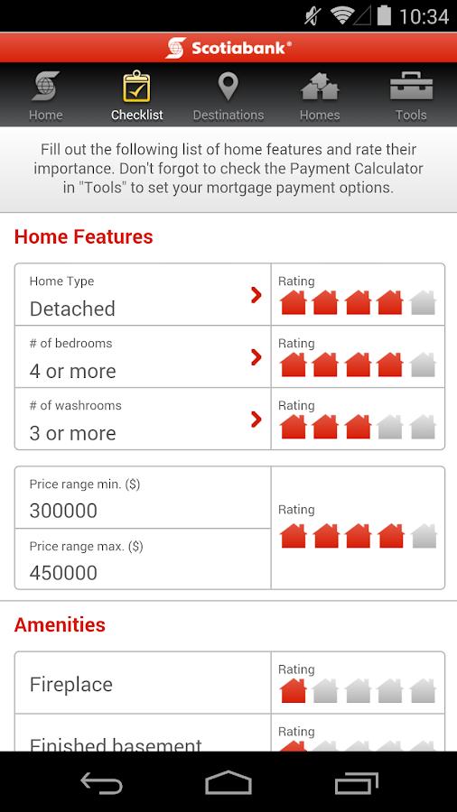 Scotiabank Dream Home Finder - screenshot