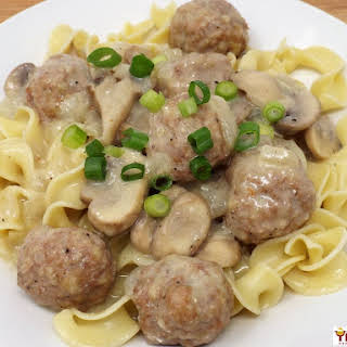 Turkey Meatball Stroganoff.