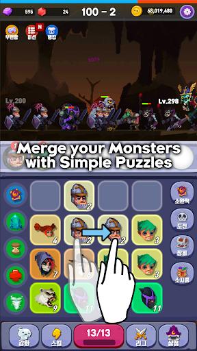 Merge Mon - Idle Puzzle RPG  captures d'écran 1