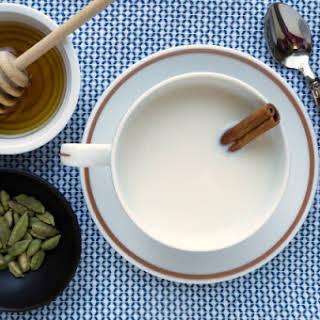Warm Milk with Cardamom and Honey.