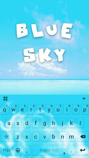 Blue Sky Kika Keyboard Theme