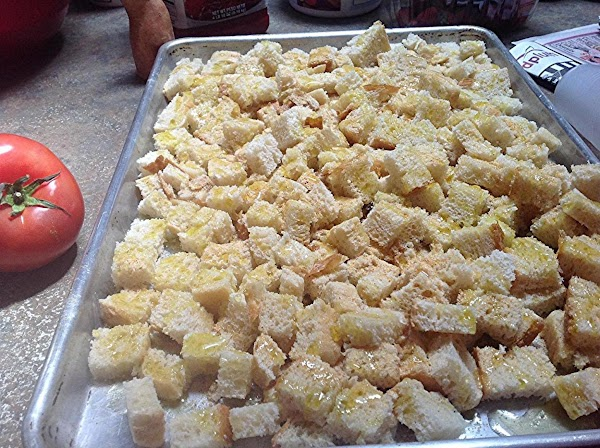 Sprinkle with the olive oil then with granulated garlic, then toss lightly, & place...