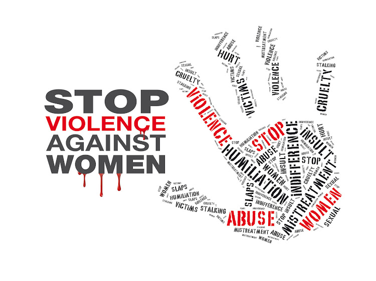Stop violence against women.