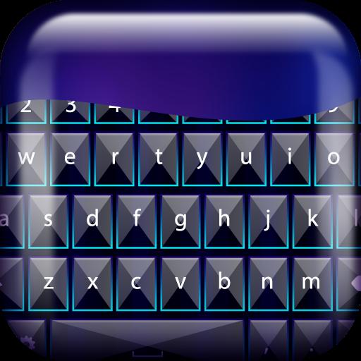 青いネオンキーボード 個人化 App LOGO-硬是要APP