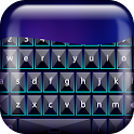 Neon Blue Keyboard icon