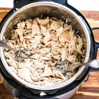 Pressure Cooker Shredded Chicken.