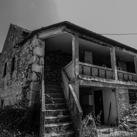 Old house by Alen Zita - Buildings & Architecture Homes ( croatia, old, adriatic, black and white, house )