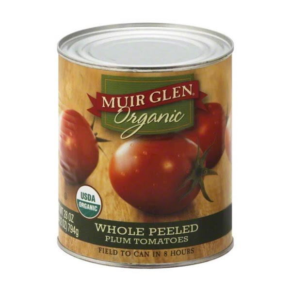 Muir Glen I make a really great pomodoro sauce with this brand of tomato. Note: Muir...