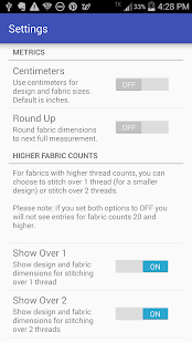 Cross Stitch Fabric Calculator- screenshot thumbnail