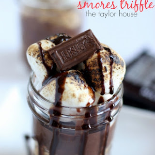 Hershey's Smores Triffle Dessert.