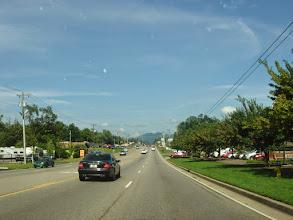 Photo: driving towards Cades Cove