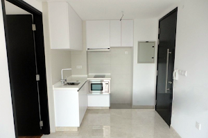 Fully equipped kitchen at East Coast Serviced Apartments, Singapore