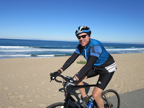 Photo: Scott Brown by the beach in Seaside just after we waded through 30 feet worth of 4-inch deep sand. First time I've had to walk my bike on the Monterey Bay Trail.