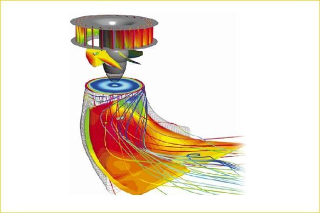 ANSYS - Моделирование течения в гидравлической турбине