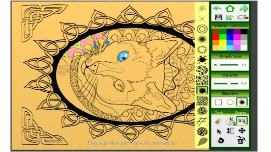 celtic knots coloring book screenshot thumbnail - Celtic Coloring Book