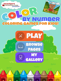 Color By Number Kids Art Game Screenshot Thumbnail