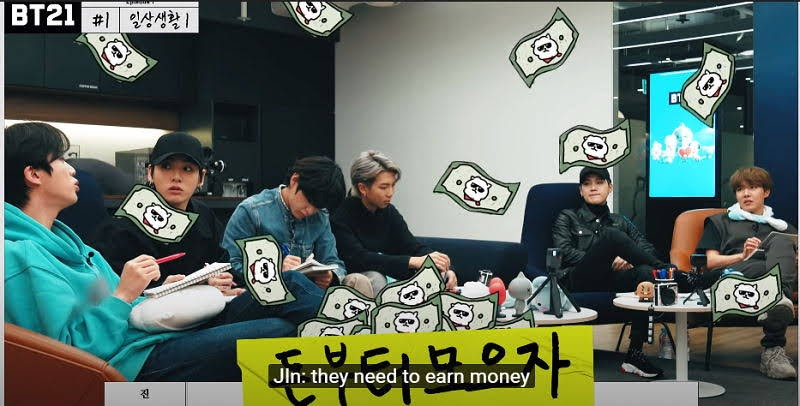 BTS's Money Minded Brains Jin And Suga Wants Money for 2020's Version of BT21