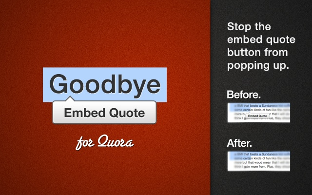Goodbye Quora Embed Button
